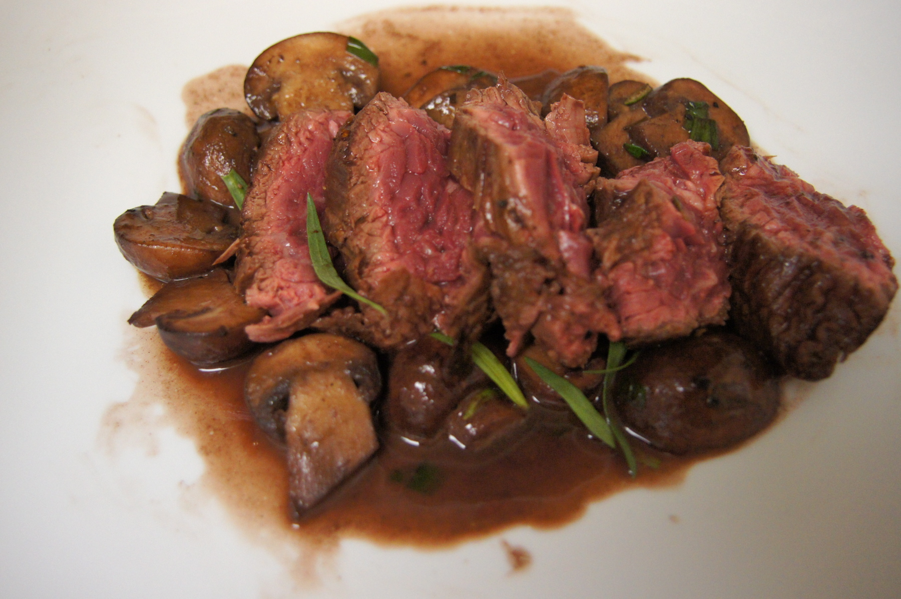 Recipe Review: Hanger Steak with Mushrooms and Red Wine Sauce ...