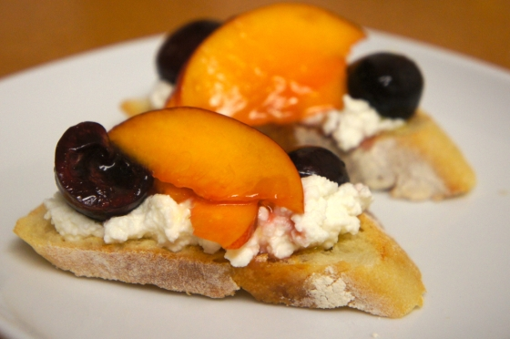 Cherry and Plum Bruschetta