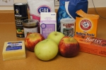 Ingredients for apple gruyere scone