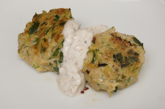 Ottolenghi Turkey and zucchini burgers with green onion and cumin