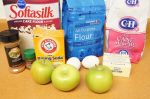 Ingredients for apple snacking spice cake