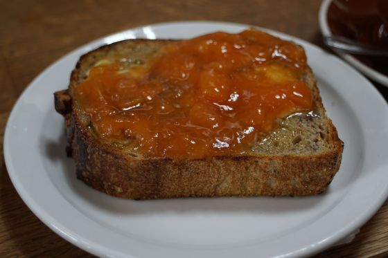 The Mill toast with apricot jam