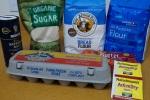 Ingredients for brioche dough