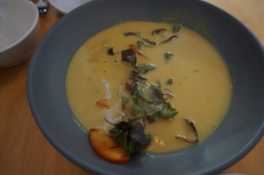 stone fruit curry with black cod