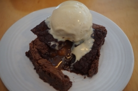 warm brownie